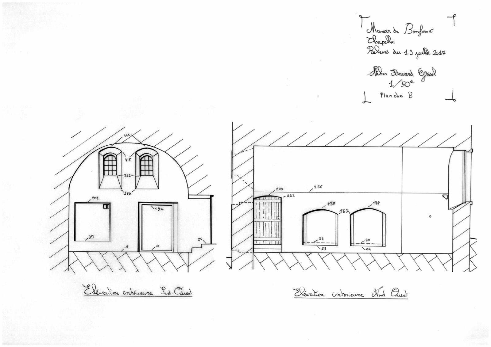 60.Relevés Chapelle Planche B