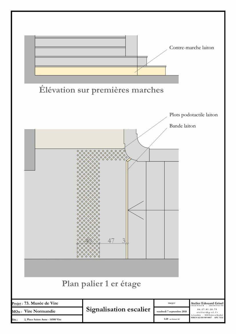 D12. Signalisation escalier