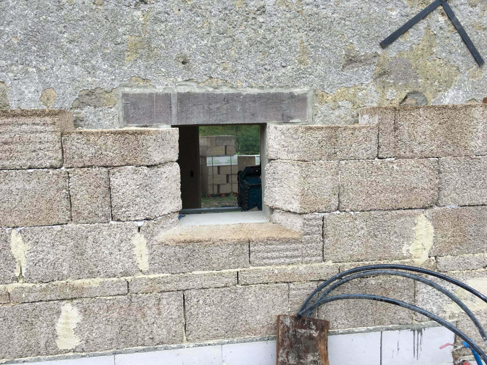 ITE brique de chanvre - La Pairiérie