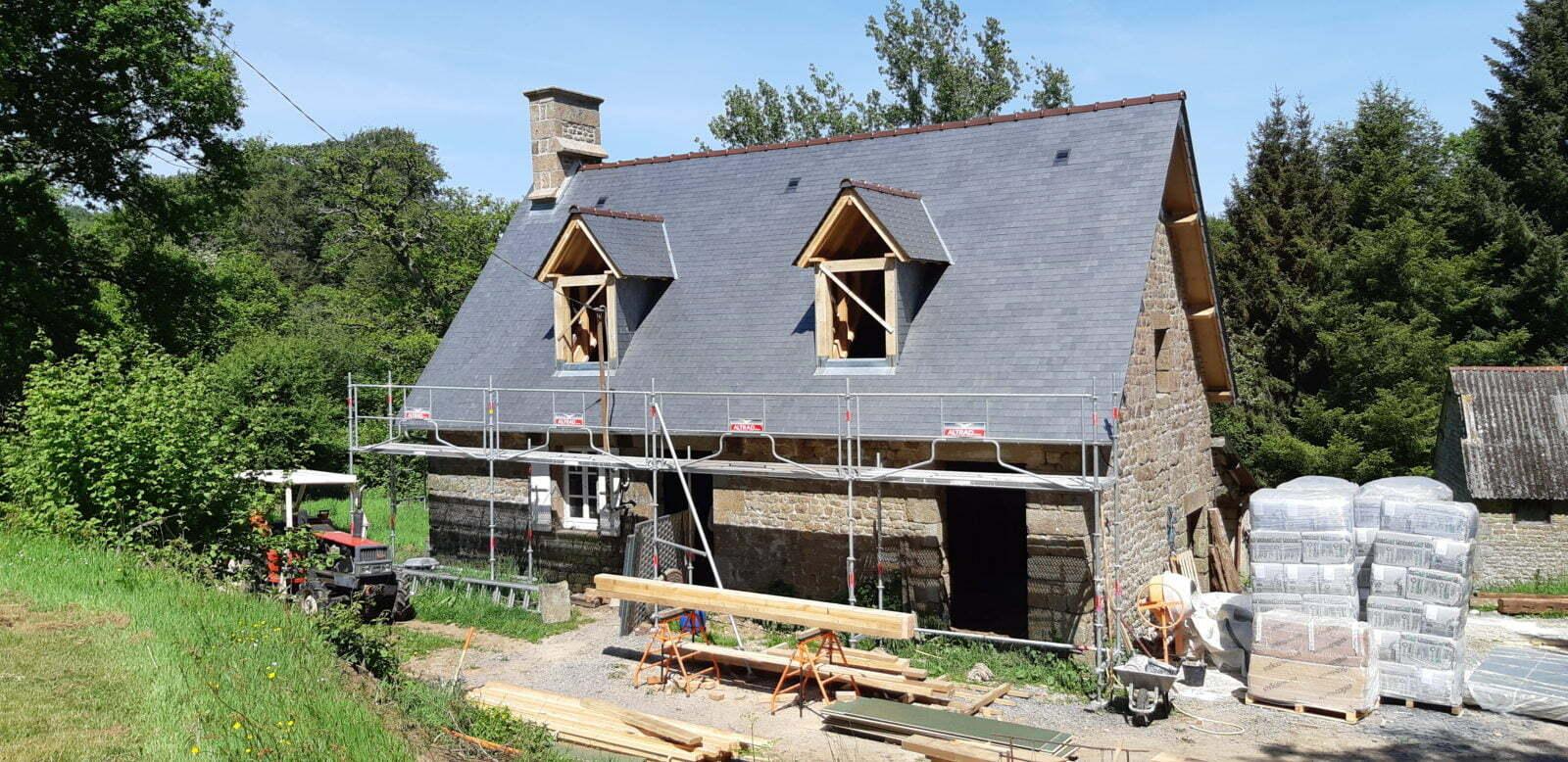 Restauration de la toiture - La Béchaudière